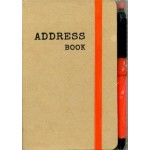 A6 Address Book Kraft - Min Qty Buy 6
