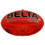 Aussie Rules Football Synthetic Size 2 Red (Min Order Qty 2)